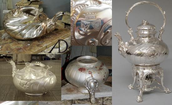 Restaurierung Silberkanne Denis Aubeck